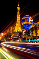 Paris In Las Vegas Strip Light Show