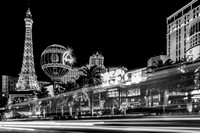 Las Vegas Strip Light Show BW