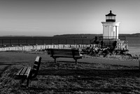 Early Morning At Bug Lighthouse BW