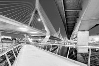 Zakim Bridge Twilight In Boston BW