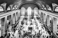 Grand Central Terminal Birds Eye View I BW