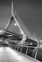 Path To The Leonard P. Zakim Bridge BW