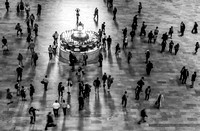 Grand Central Terminal Clock Birds Eye View II BW