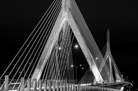 Leonard P. Zakim Bunker Hill Memorial Bridge BW